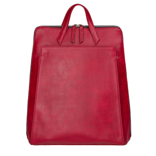 Urban Backpack Red - Vegan Laptop Backpack