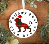 Clan Bruce Holiday 2021 Ornament, Scottish Family Christmas Tree Decoration, Personalized Celtic House of Bruce Yuletide Decor - Alba Forged