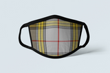 Clan Buchanan Tartan Face Mask, Scottish Family Heritage Face Covering, Celtic Dress Plaid Ancestry Mask - Alba Forged