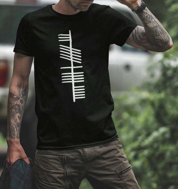 Ancient Ogham T Shirt, Neart Strength Scottish Gaelic T-Shirt, Genuine Dark Ages Medieval Writing System, Graphic Unisex Tee - Alba Forged