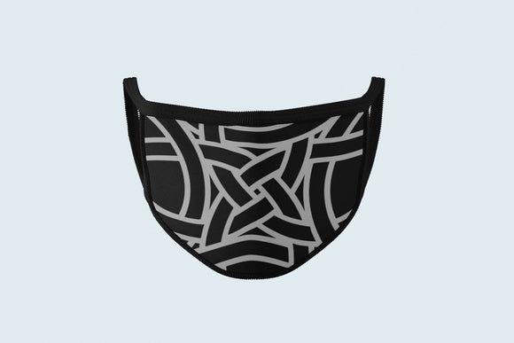 Celtic Knot Face Mask, Tribal Gaelic Face Covering, Pictish Dark Ages Ancestral Art Protective Mask - Alba Forged