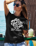 Galicia Boa Saude Shirt Celtic Knot Portugese Portugal Cheers Ancient Galician Ancestral Heritage Tribal Symbol Unisex Tee - Alba Forged