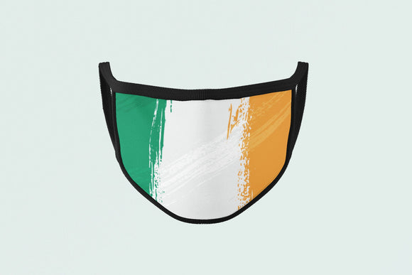 Irish Flag Mask, War Paint Green Orange Face Mask, Ireland Celtic St. Patrick's Day Face Covering - Alba Forged