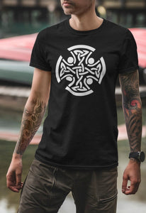 Celtic Cross T Shirt, Interlaced Gaelic Knot Shirt, Ancient Brittonic Celt Unisex Tee - Alba Forged