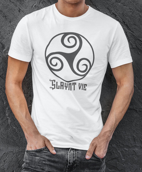 Isle of Man Slaynt Vie Shirt Celtic Knot Manx Man Mannin Cheers Ancient Ancestral Language Heritage Tribal Symbol - Alba Forged