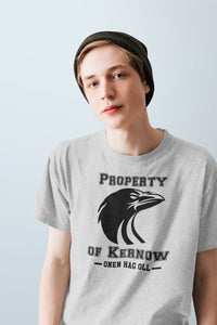 Property of Kernow Personalized T Shirt, Athletic Style Cornwall Patriot Heathered Shirt, Cornish Pride Sporty Unisex Tee - Alba Forged