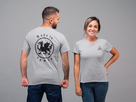 Made In Cymru T Shirt, Wales Patriot Shirt, Celtic Triquetra Knot Welsh Pride Heritage Unisex Tee - Alba Forged