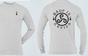 Made In Breizh Long Sleeve Tee, Brittany Patriot Shirt, Sword Ermine Breton Pride Celtic Heritage Unisex T Shirt - Alba Forged