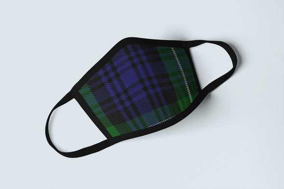 Clan Abercromby Tartan Face Mask, Scottish Family Heritage Face Covering, Celtic Abercrombie Plaid Ancestry Mask - Alba Forged