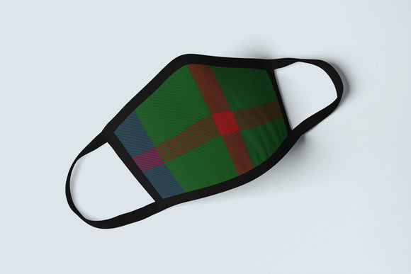 Clan Agnew Tartan Face Mask, Scottish Family Heritage Face Covering, Celtic Plaid Ancestry Mask - Alba Forged