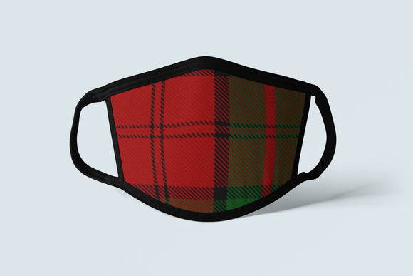 Clan Dunbar Tartan Face Mask, Scottish Family Heritage Face Covering, Celtic Plaid Ancestry Mask - Alba Forged