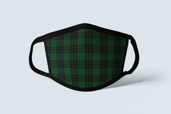 Clan Graham Tartan Face Mask, Scottish Family Heritage Face Covering, Celtic Dress Plaid Ancestry Mask - Alba Forged