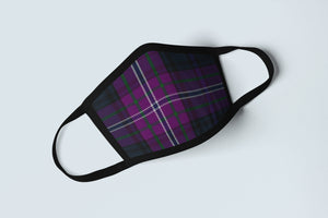 Scotland Forever Tartan Face Mask, Scottish Heritage Patriot Face Covering, Celtic Plaid Ancestry Mask - Alba Forged