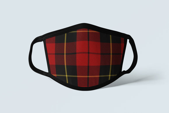 Clan Wallace Tartan Face Mask, Scottish Family Heritage Face Covering, Celtic Hunting Plaid Ancestry Mask - Alba Forged