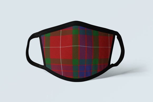 Clan Fraser Tartan Face Mask, Scottish Lowlands Family Heritage Face Covering, Celtic Hunting Dress Plaid Ancestry Mask - Alba Forged