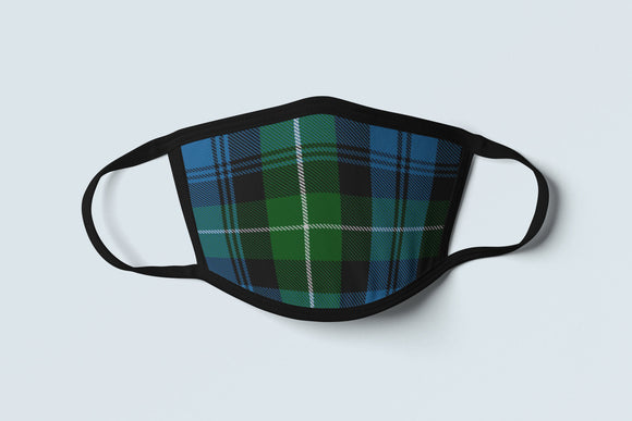 Clan Lamont Tartan Face Mask, Scottish Family Heritage Face Covering, Celtic Dress Plaid Ancestry Mask - Alba Forged