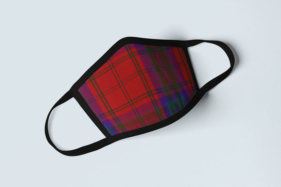 Clan MacDougall Tartan Face Mask, Scottish Family Heritage Face Covering, Celtic Plaid Ancestry Mask - Alba Forged
