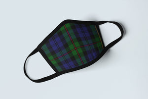 Clan MacEwen Tartan Face Mask, Scottish Family Heritage Face Covering, Celtic Plaid Ancestry Mask - Alba Forged