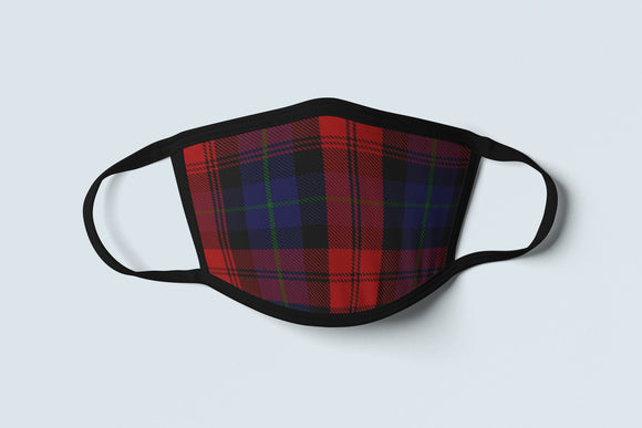 Clan MacLachlan Tartan Face Mask, Scottish Family Heritage Face Covering, Celtic Dress Plaid Ancestry Mask - Alba Forged