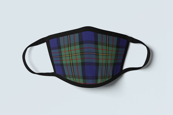 Clan MacLaren Tartan Face Mask, Scottish Family Heritage Face Covering, Celtic Dress Plaid Ancestry Mask - Alba Forged