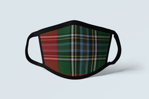 Clan MacLean Tartan Face Mask, Scottish Family Heritage Face Covering, Celtic Dress Plaid Ancestry Mask - Alba Forged