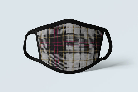 Clan MacMillan Tartan Face Mask, Scottish Family Heritage Face Covering, Celtic Hunting Plaid Ancestry Mask - Alba Forged