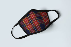 Clan Ogilvy Tartan Face Mask, Scottish Family Heritage Face Covering, Celtic Hunting Plaid Ancestry Mask - Alba Forged