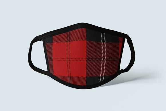 Clan Ramsay Tartan Face Mask, Scottish Family Heritage Face Covering, Celtic Hunting Plaid Ancestry Mask - Alba Forged