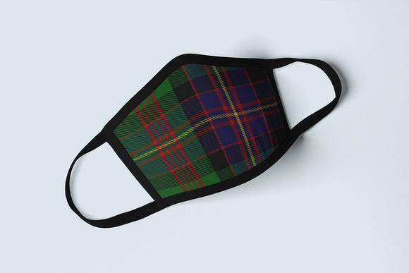 Clan Cochrane Tartan Face Mask, Scottish Family Heritage Face Covering, Celtic Hunting Plaid Ancestry Mask - Alba Forged