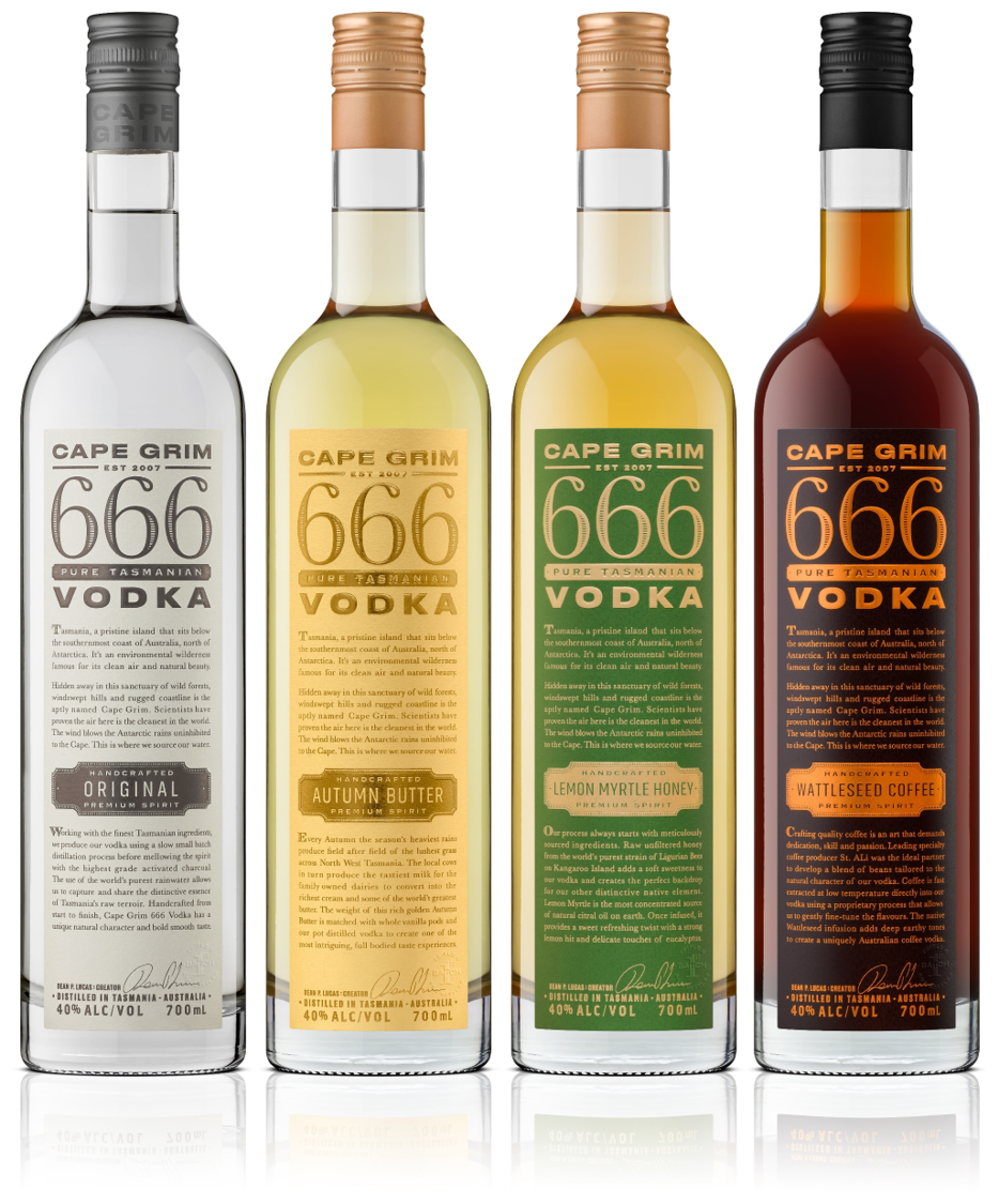 Cape Grim Vodka Range Pack 40% 4x700ml