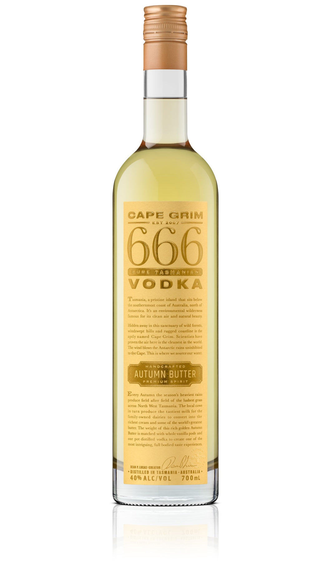 Cape Grim Autumn Butter Vodka 40% 700ml