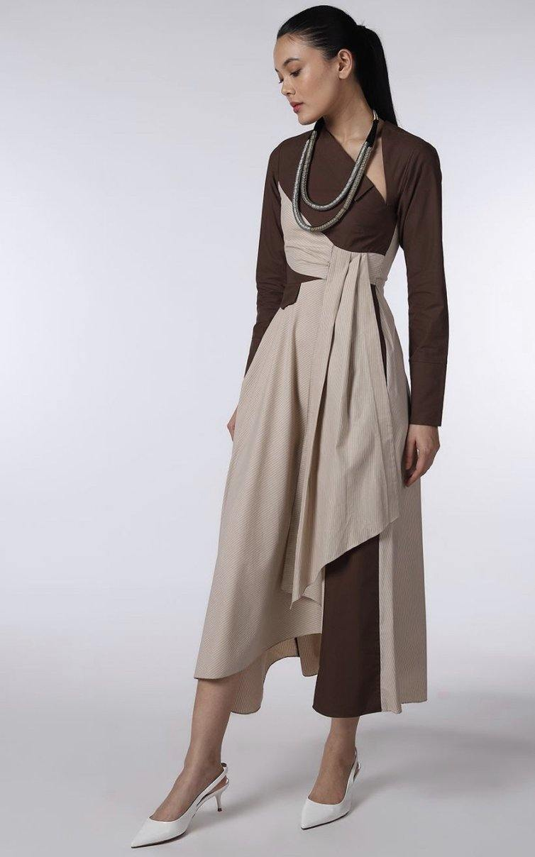 Reeda Dress Brown - Notebook