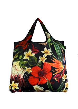 Tropical Flowers, Small Reusable Beach/Shopping Bag