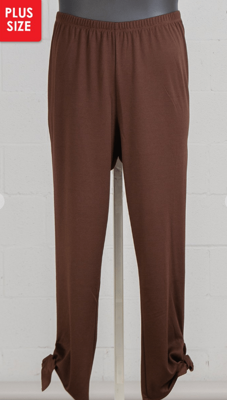Chocolate Ankle Tie Pants