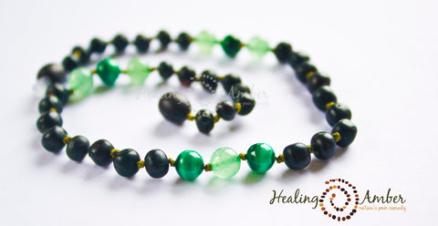 Raw Molasses & Green Aventurine & Malachite ~ 15 inch