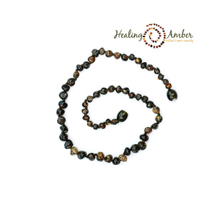Molasses Olive Speckle  ~ Circle ~ 5.5 inches (clasp)