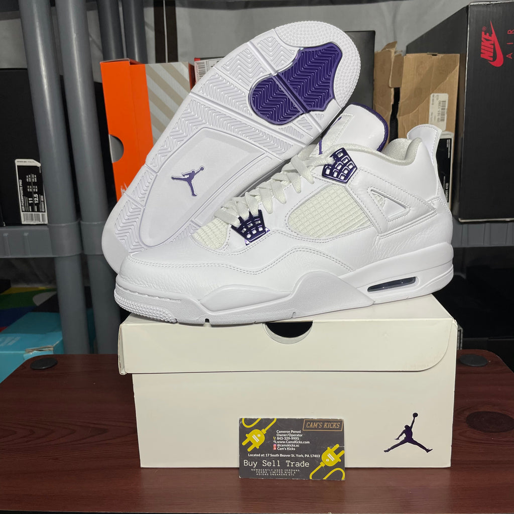 Air Jordan Retro 4 Metallic Purple