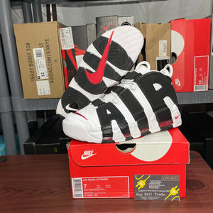 Nike Air More Uptempo White/Black/Red
