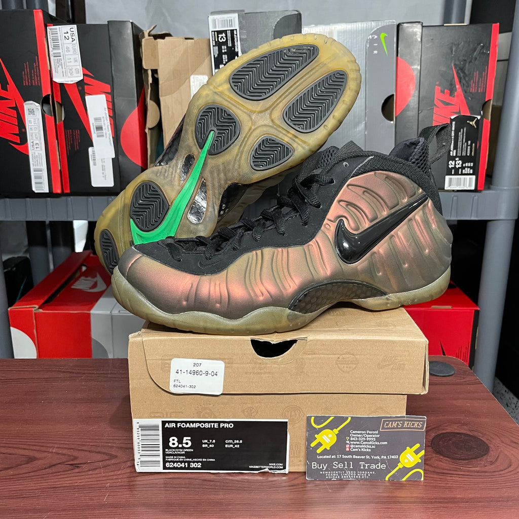 Nike Foamposite Pro Gym Green (Pre-Owned)