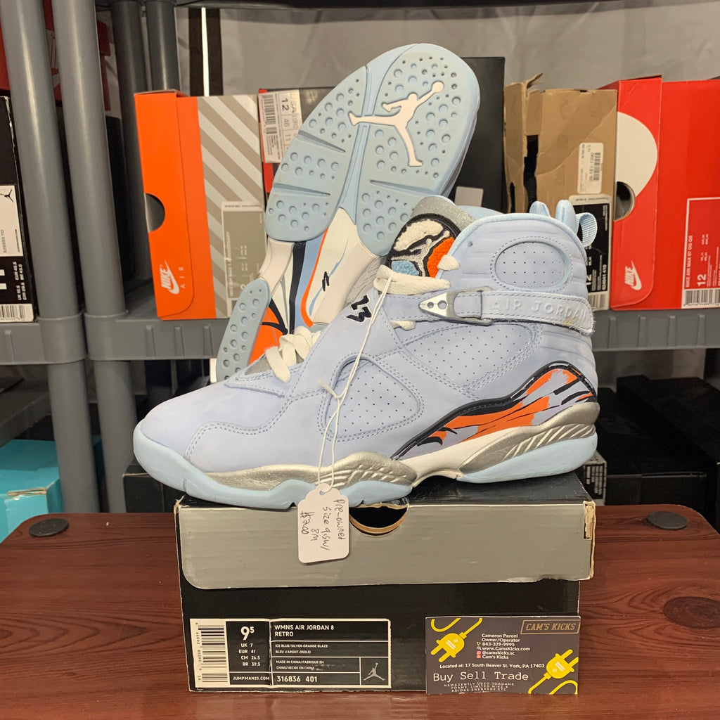 Air Jordan Retro 8 Ice Blue (Pre-Owned)