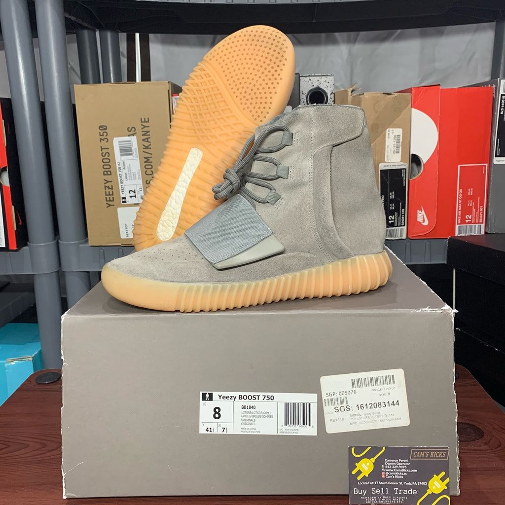 Adidas Yeezy 750 Grey Gum Bottom (Pre-Owned)