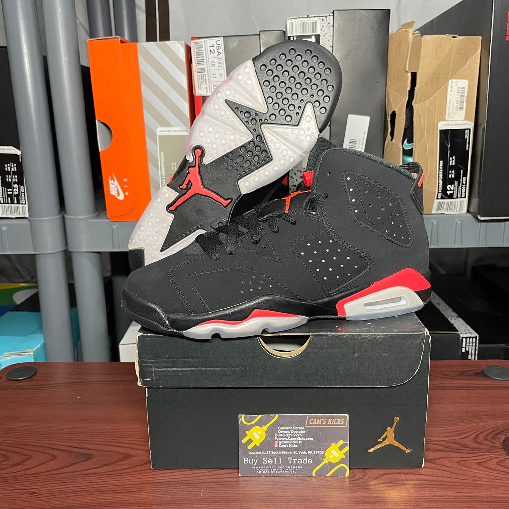 Air Jordan Retro 6 Infrared GS Black