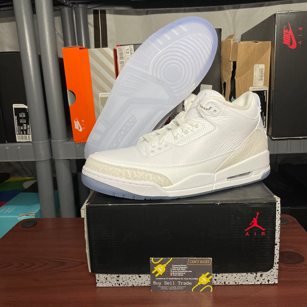 Air Jordan Retro 3 Pure White [Like New]