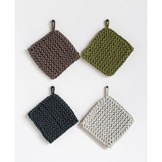 "8"" Square Cotton Crocheted- 4 colors"