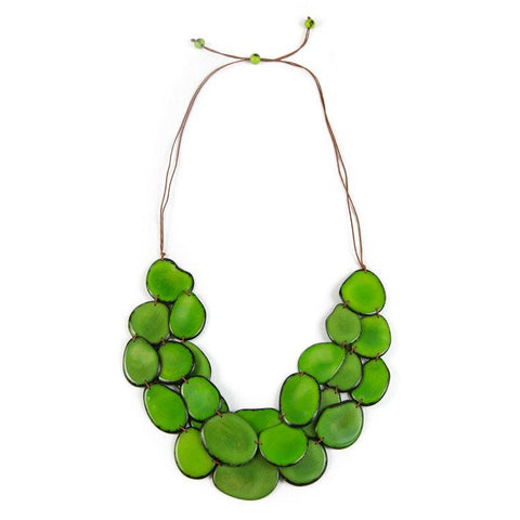Amigas Necklace- Lime Green