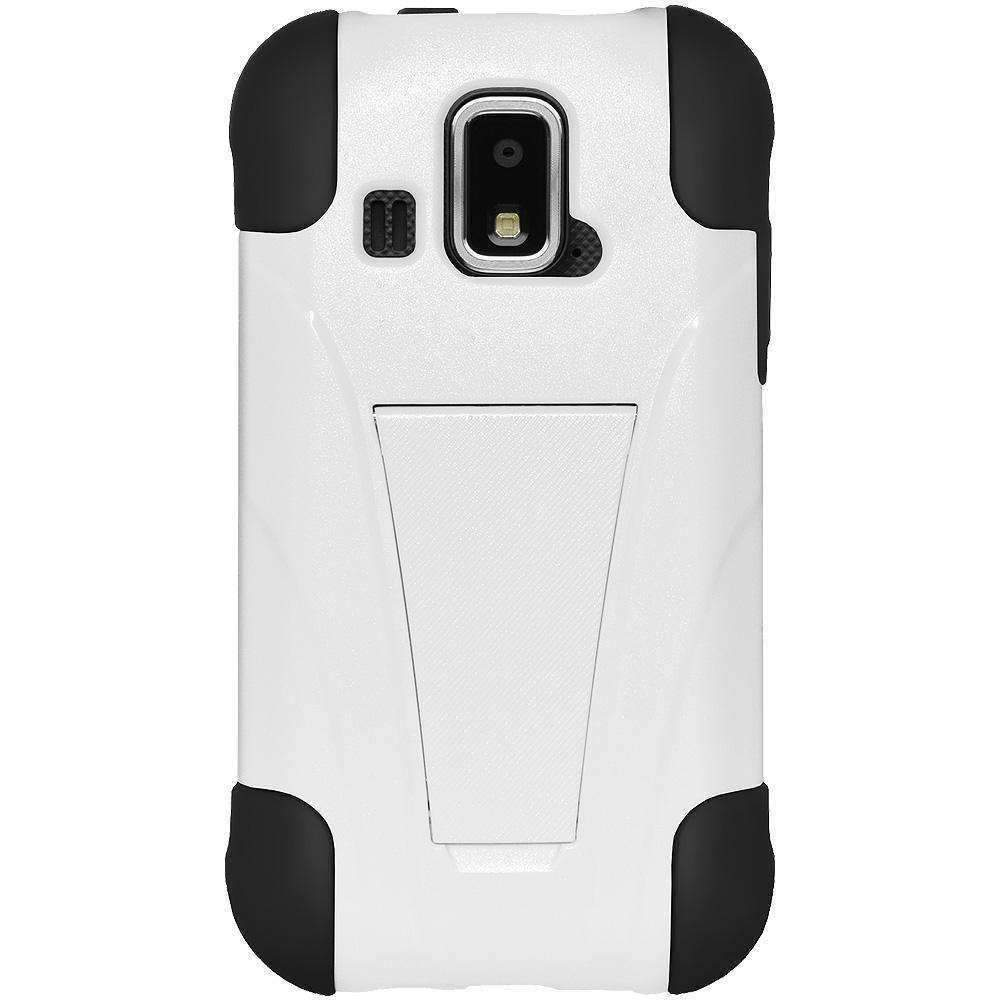 AMZER Double Layer Hybrid Kickstand Case for Kyocera Hydro XTRM -
