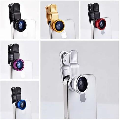 3-in-1 Universal Clip on Smartphone Camera Lens - 6 Colors