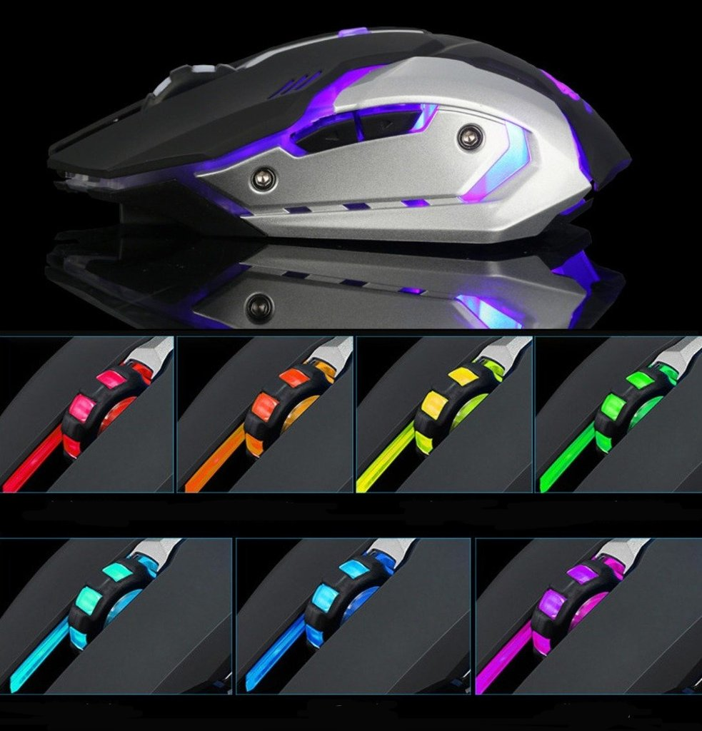 Ninja Dragon Stealth 7 Wireless Silent LED Gaming Mouse