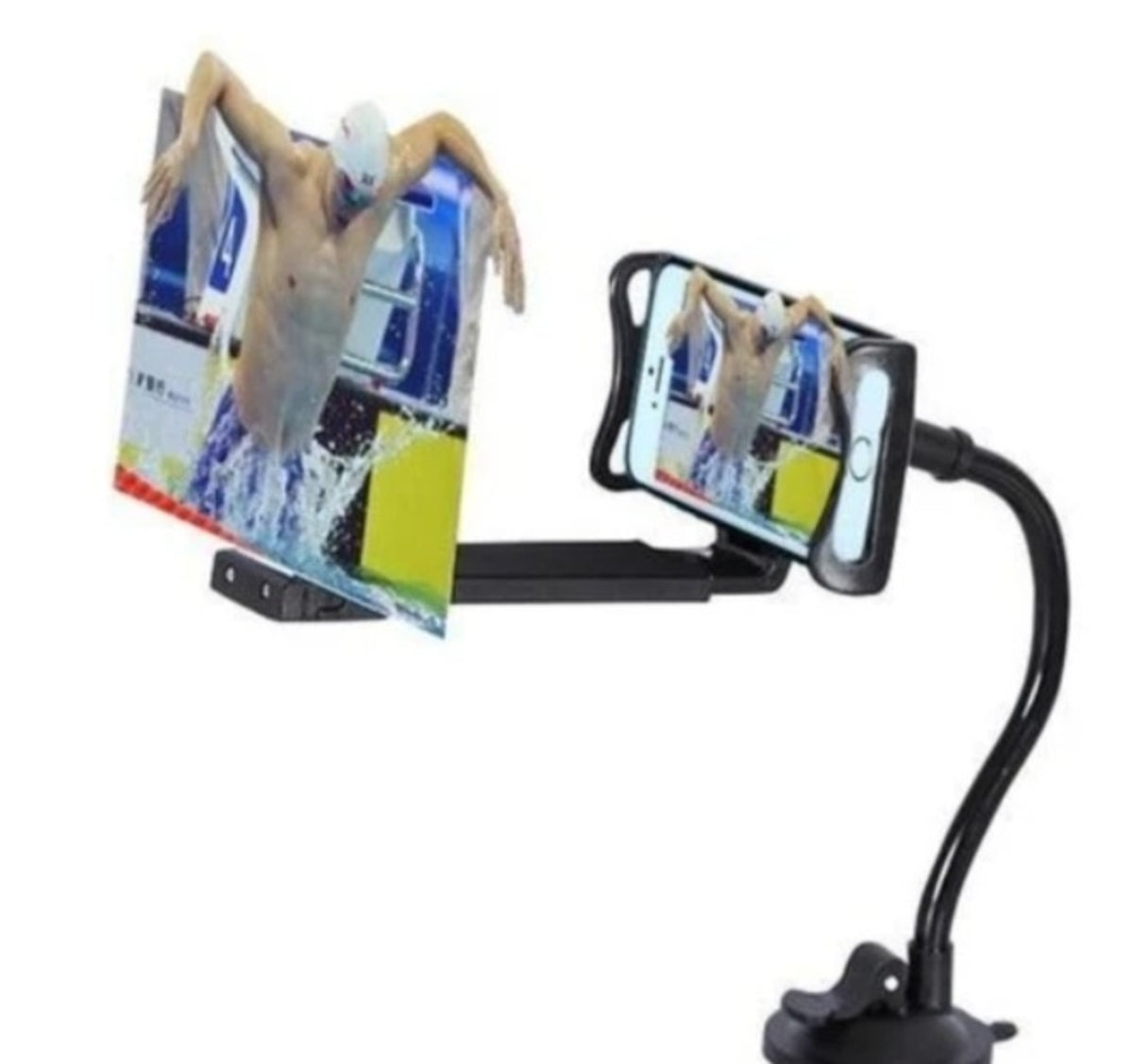"12"" Mobile Phone HD Projection 3D Magnifier with Stand"