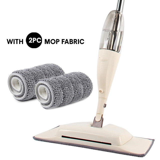 Mop with Sprayer 3 in 1 Magic Wash Floor Cleaning Brooms Hardwood Wet Mop Spin Floor Cloth Microfiber Home Kitchen Products Mopa